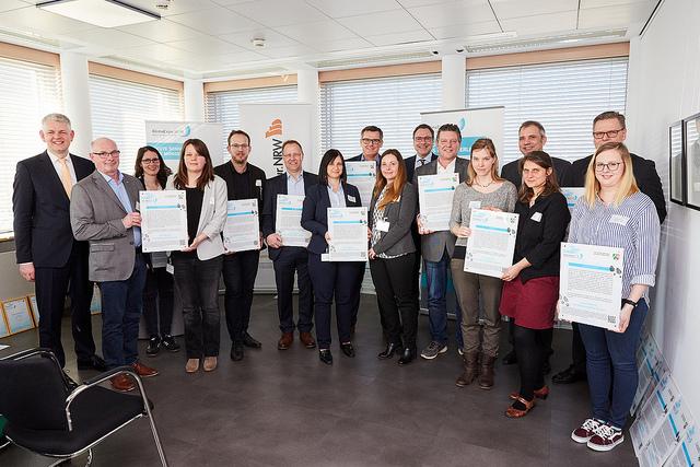Verleihung der Plakette und Urkunde der KlimaExpo an das Projekt UrbaneProduktion.Ruhr