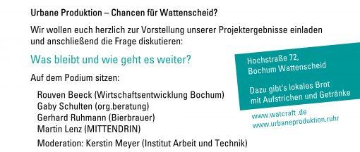 Flyer für WatCraft Abschluss