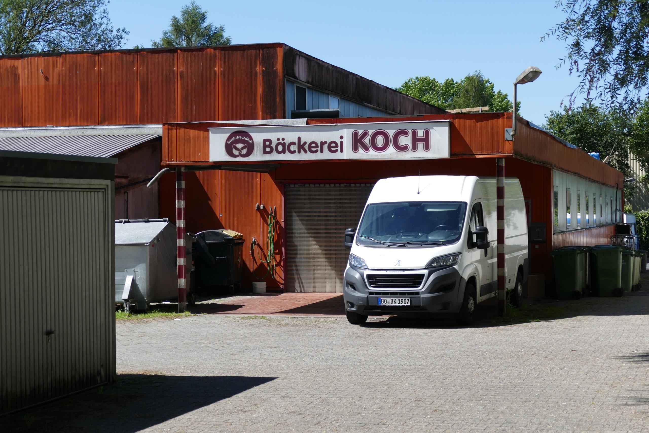 Eingang der Backstube von Bäckerei Koch