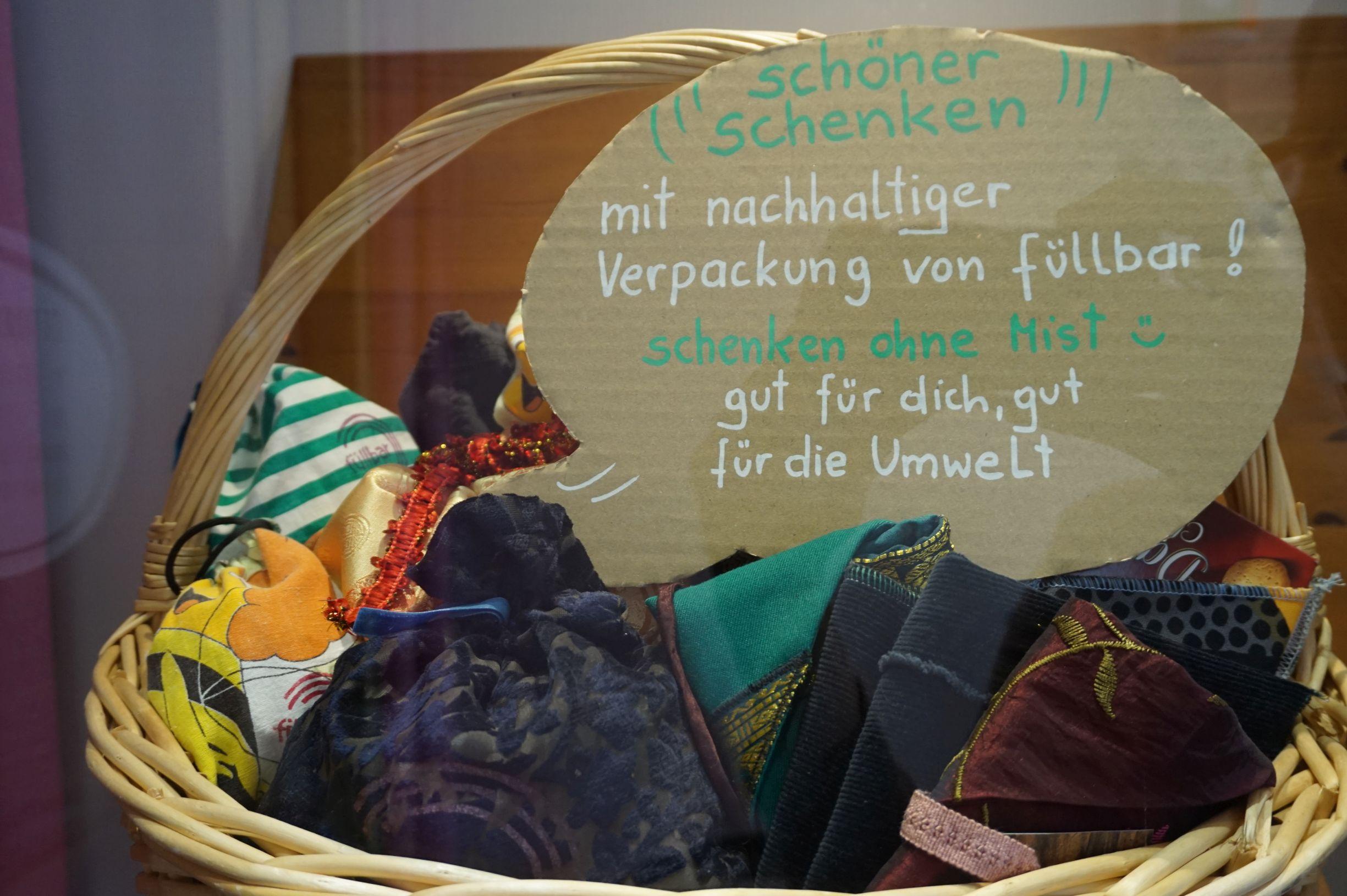 nachhaltige Geschenktaschen aus Stoff