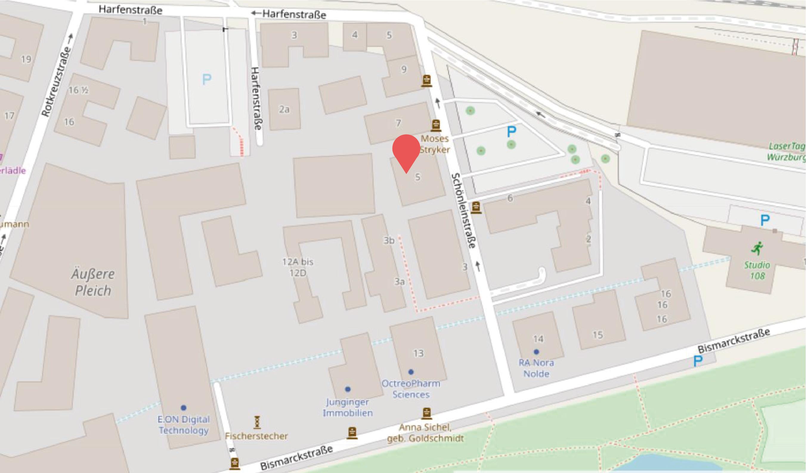 Karte mit dem Standort der Radboten